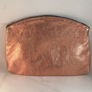 Baggu leather rose gold clutch used